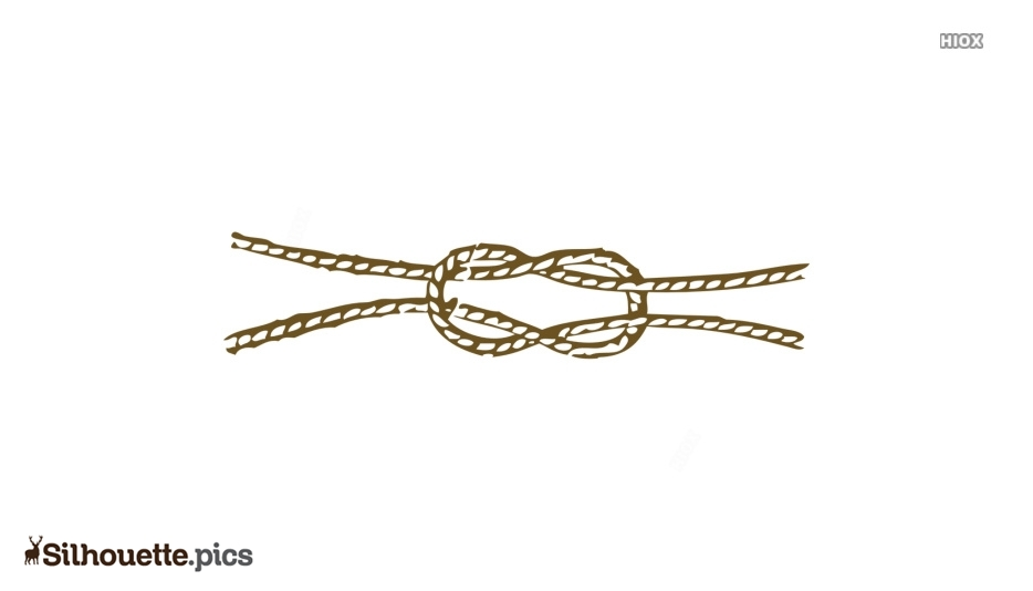 Rope Knot Silhouette Art