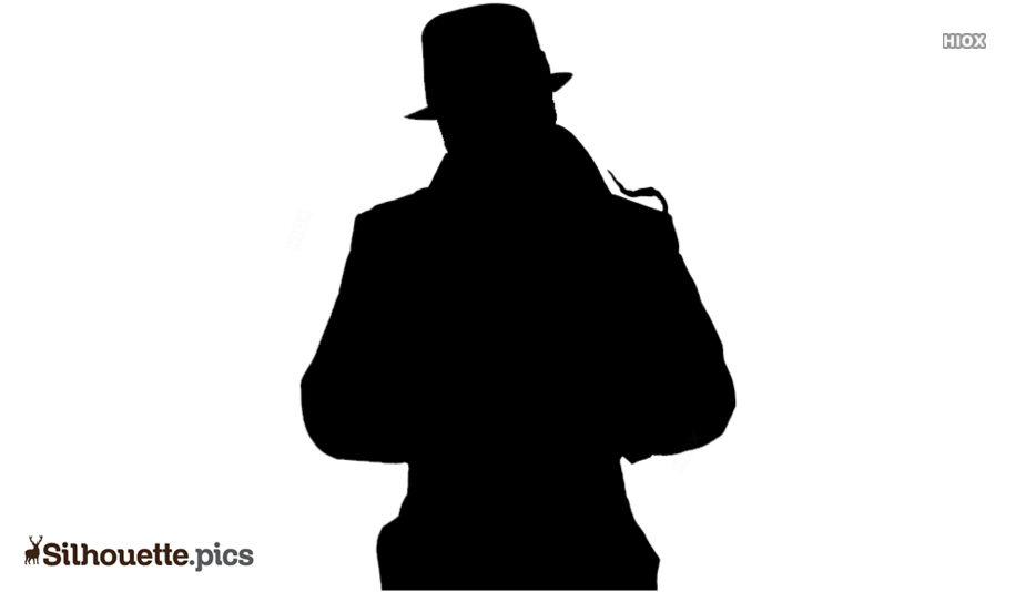 Rorschach Character Silhouette Drawing