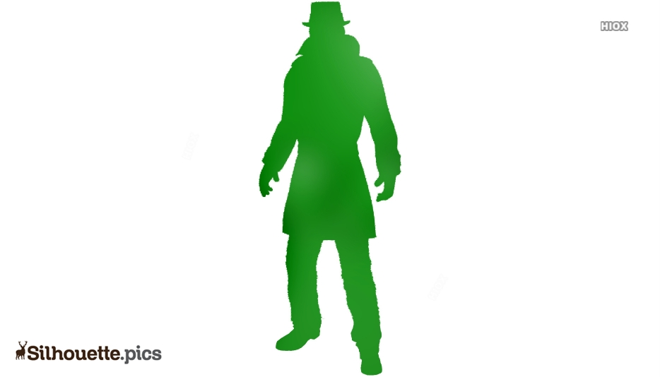 Rorschach Character Silhouette Icon