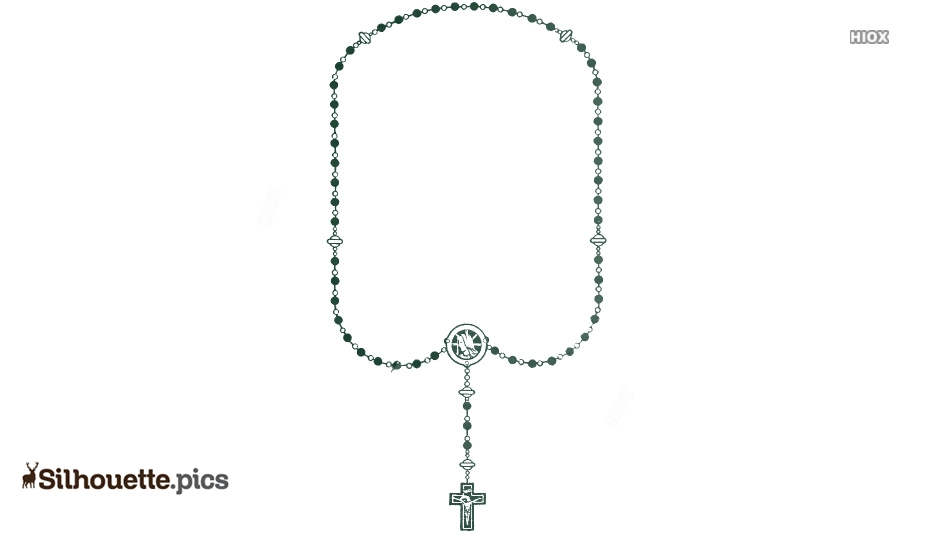 Rosary Beads Silhouette Images