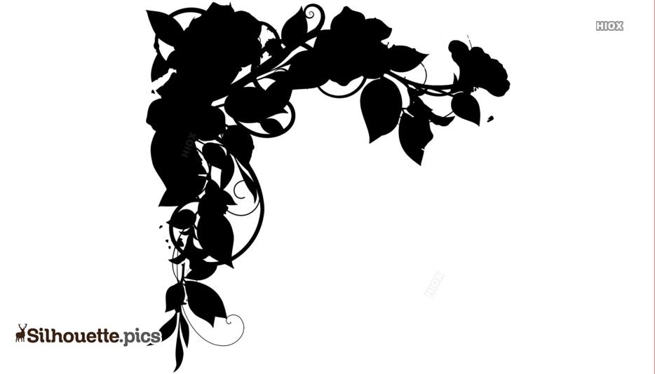 Rose Flower Border Silhouette Image
