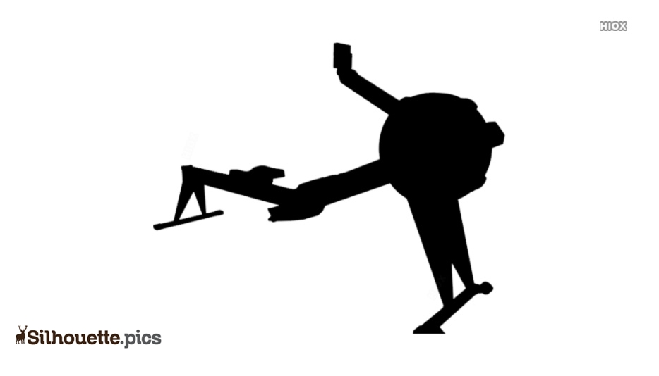 Rowing Machine Silhouette, Vector Image