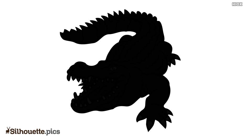 Sad Alligator Silhouette