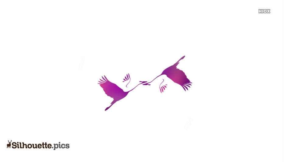 Sandhill Crane Bird Silhouette