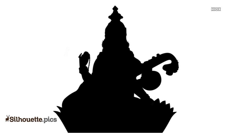 Saraswati Devi Silhouette