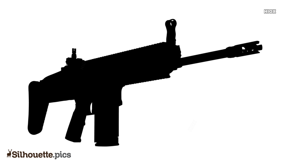Scar Rifle Silhouette Images