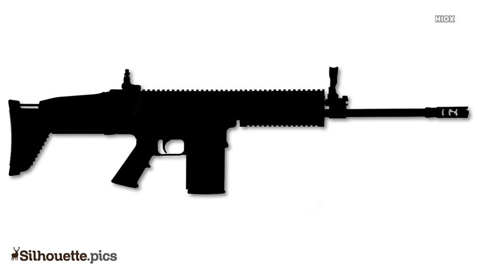 Scar Rifle Silhouette Illustration