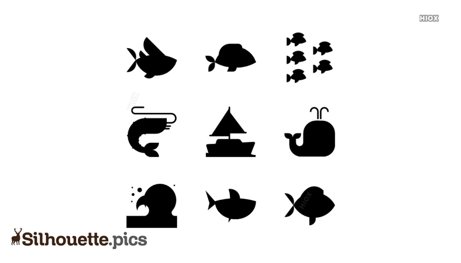 Sea Animals Clipart Silhouette