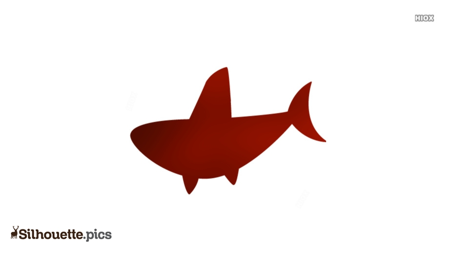 Shark Fin Cartoon Silhouette For Free