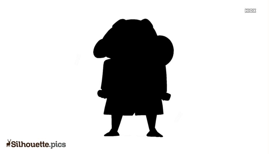Shin Chan Silhouette Illustration