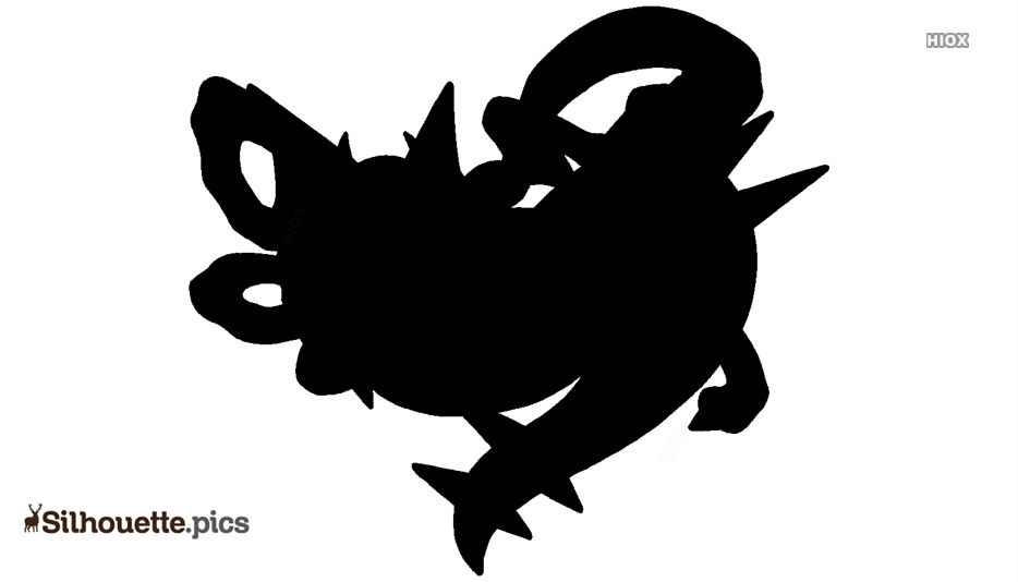 Shiny Giratina Silhouette Illustration