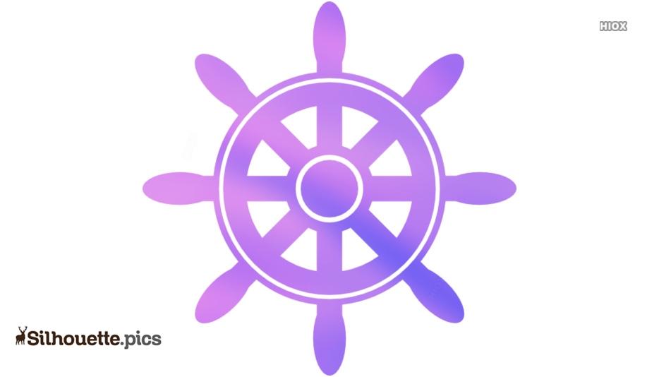 Ship Wheel Clip Art Silhouette