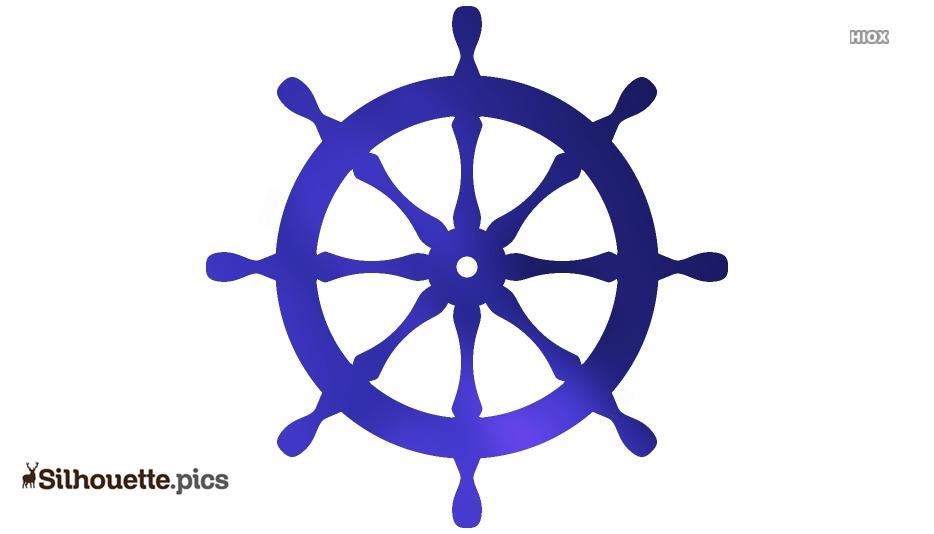 Ship Wheel Silhouette Background