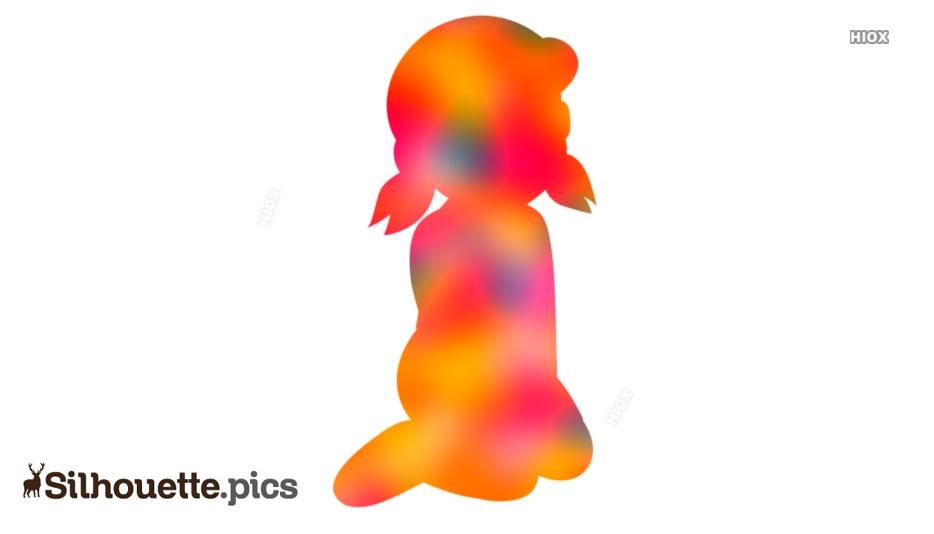 Shizuka Minamoto Cartoon Character Silhouette