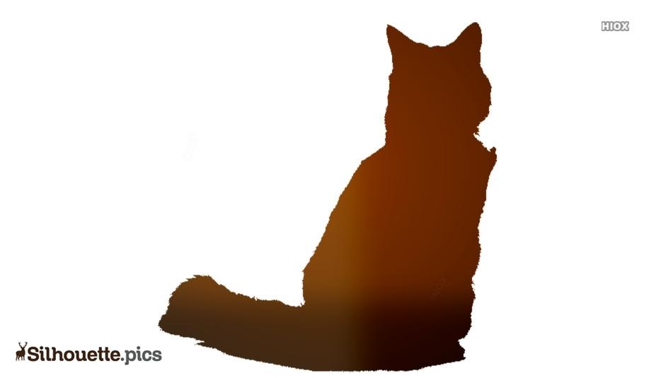 Sick Cat Clipart Silhouette