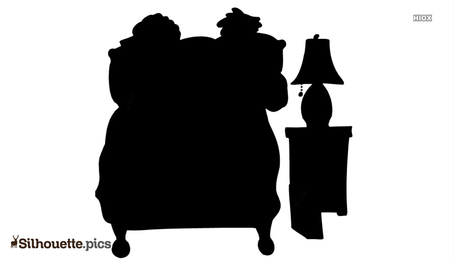 Sick In Bed Silhouette Free Vector Art