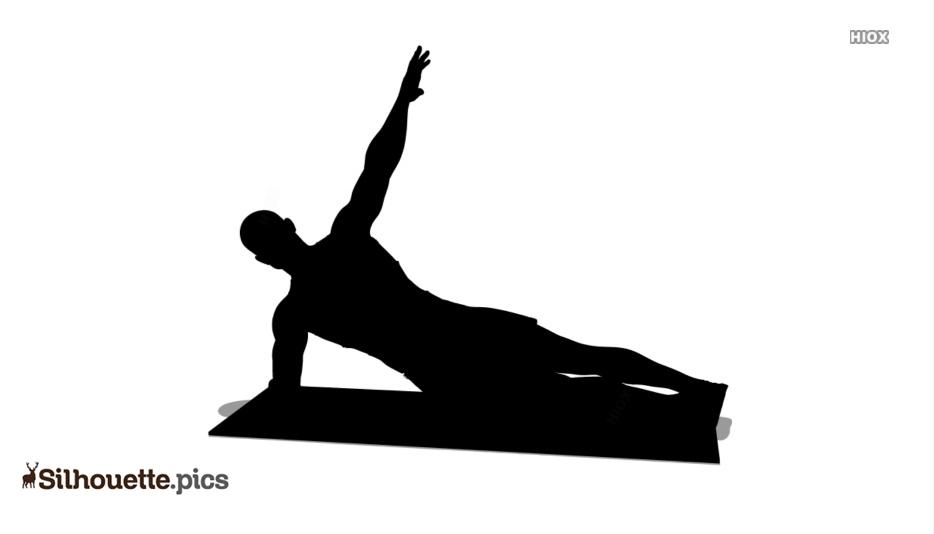 Side Plank Silhouette Clip Art