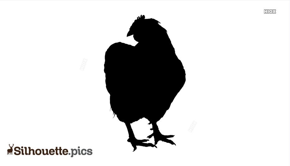 Silhouette Hen