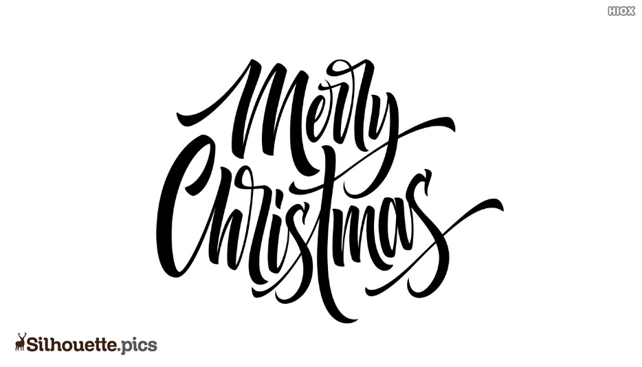 Silhouette Of Merry Christmas Font
