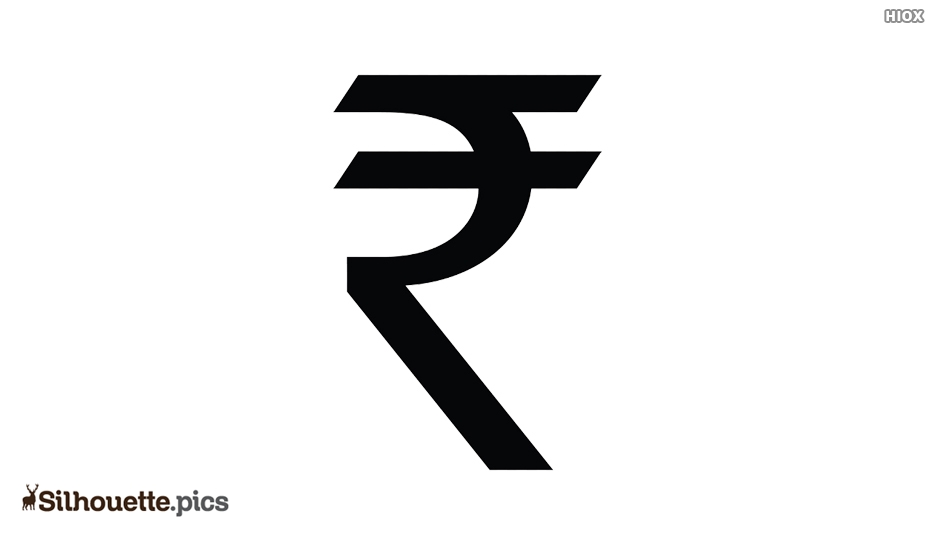Silhouette Of Rupee Sign