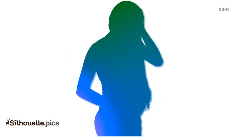 Silhouette Pregnant Woman Clipart
