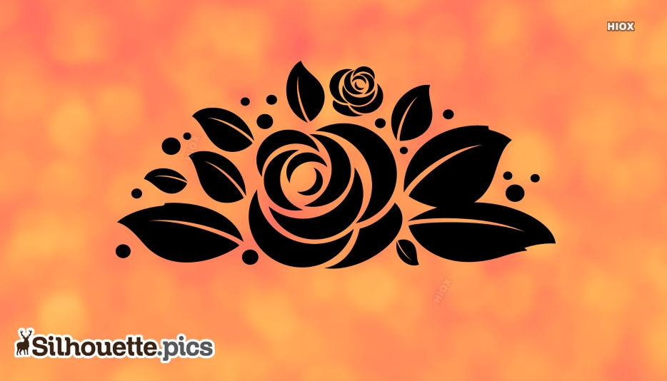 Silhouette Rose | Rose Leaf Vector