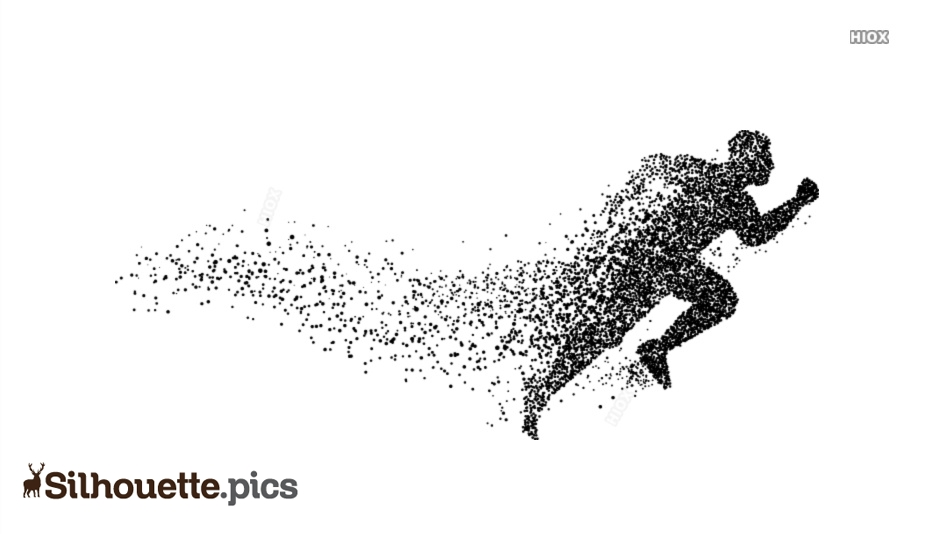 Cute Running Silhouette Illustration Image