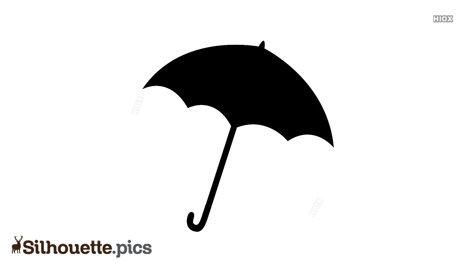 Simple, Black Umbrella Silhouette Image