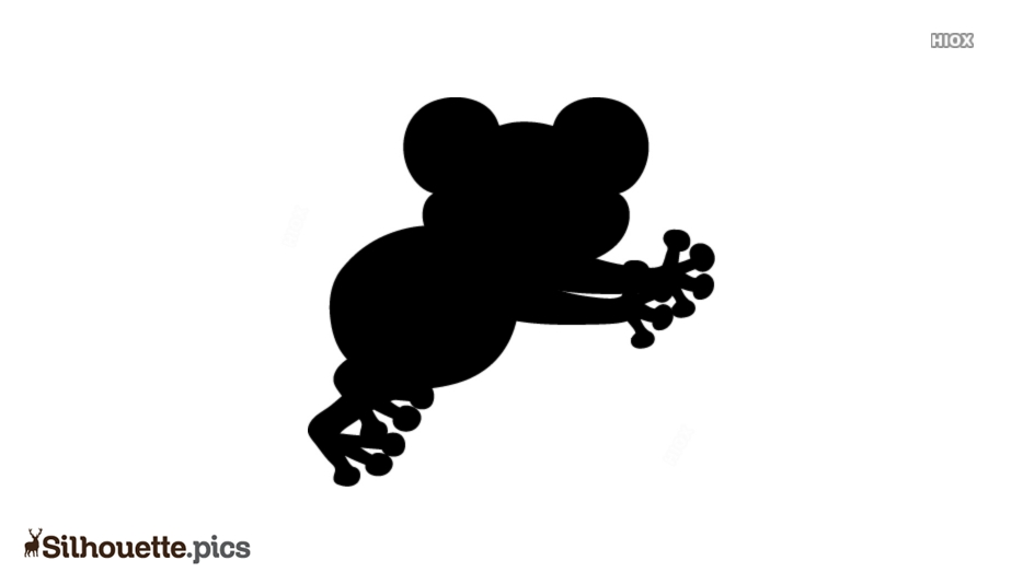 Simple Cartoon Frog Silhouette Clipart