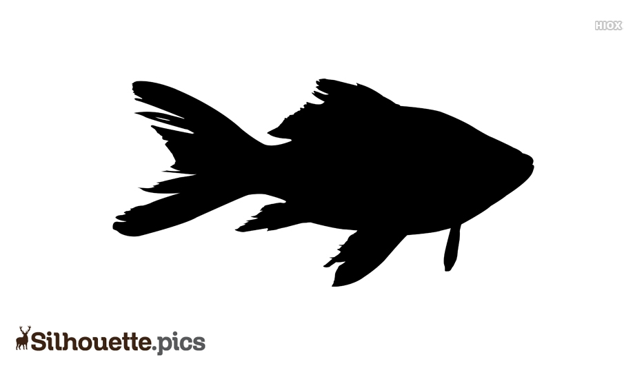 Simple Fish Drawing Silhouette Clipart