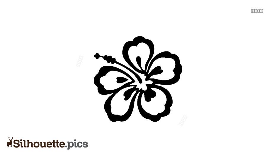 Simple Hibiscus Flower Silhouette