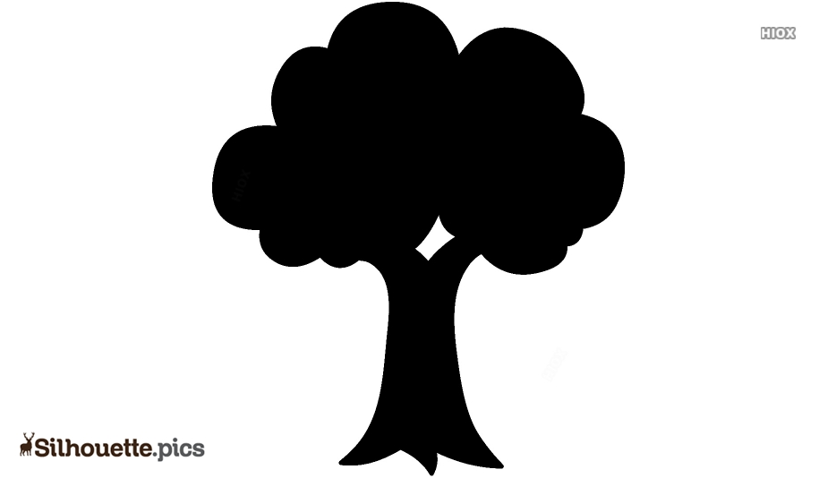 Simple Tree Drawings Silhouette Free Vector Art