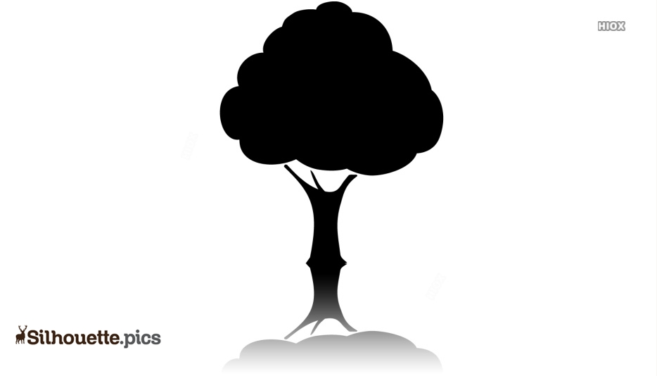 Simple Tree Icon Silhouette