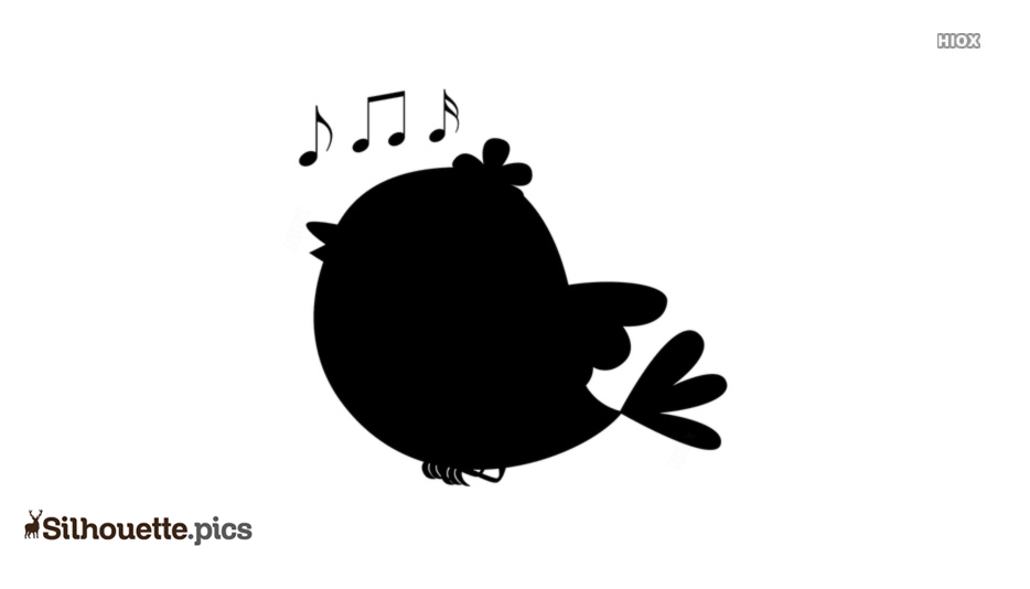 Singing Bird Silhouette Image Vector
