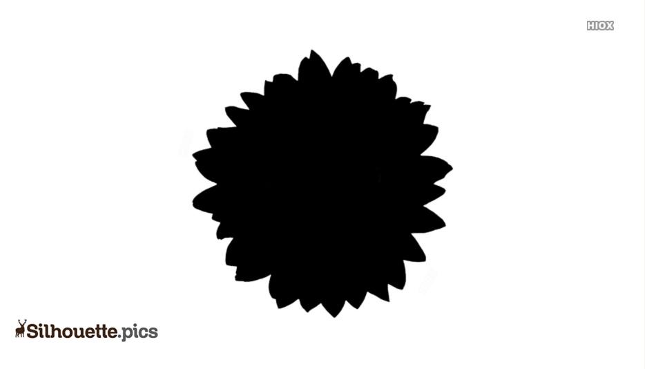 Single Flower Silhouette Clipart