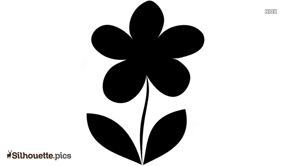 Single Flower Silhouette Vector Graphics