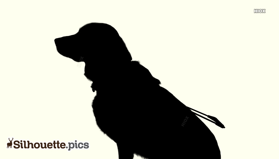 Sitting Dog Silhouette Free Vector
