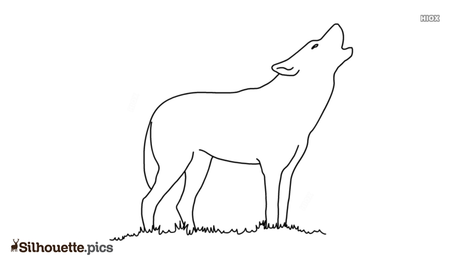 Wolf Silhouette Images, Outline