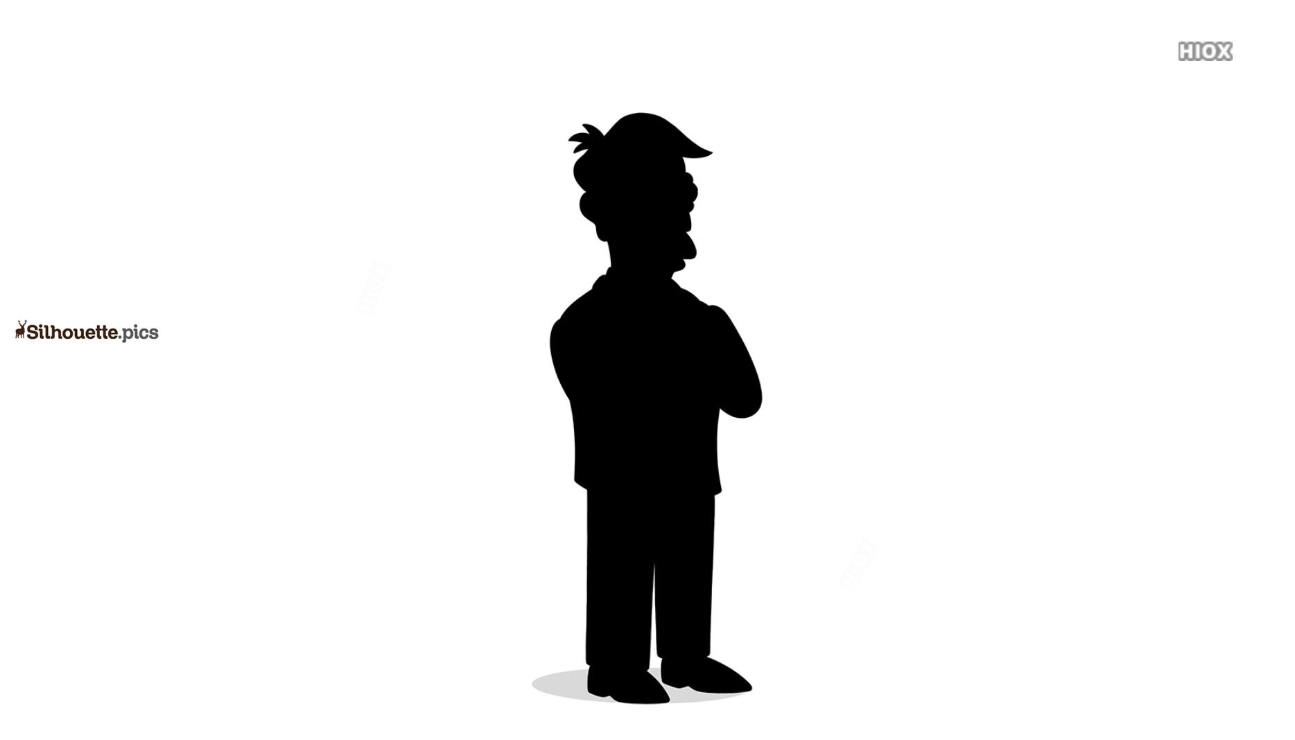 Skinner Character Clipart || Principal Skinner Simpsons Silhouette