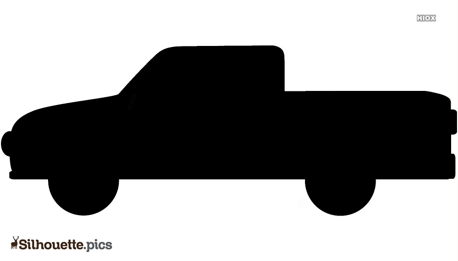 Small Cartoon Truck Silhouette Art