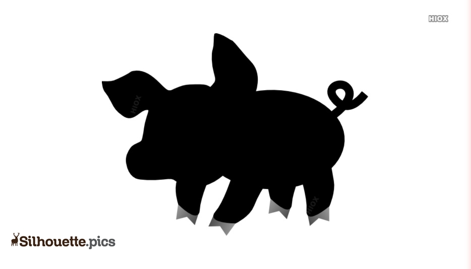 Small Pig Cartoon Silhouette