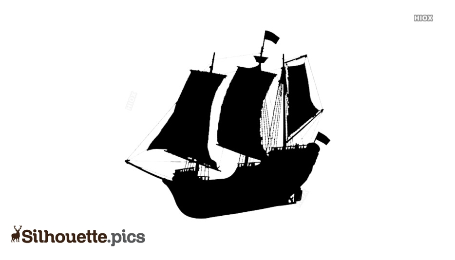 Small Pirate Ship Silhouette