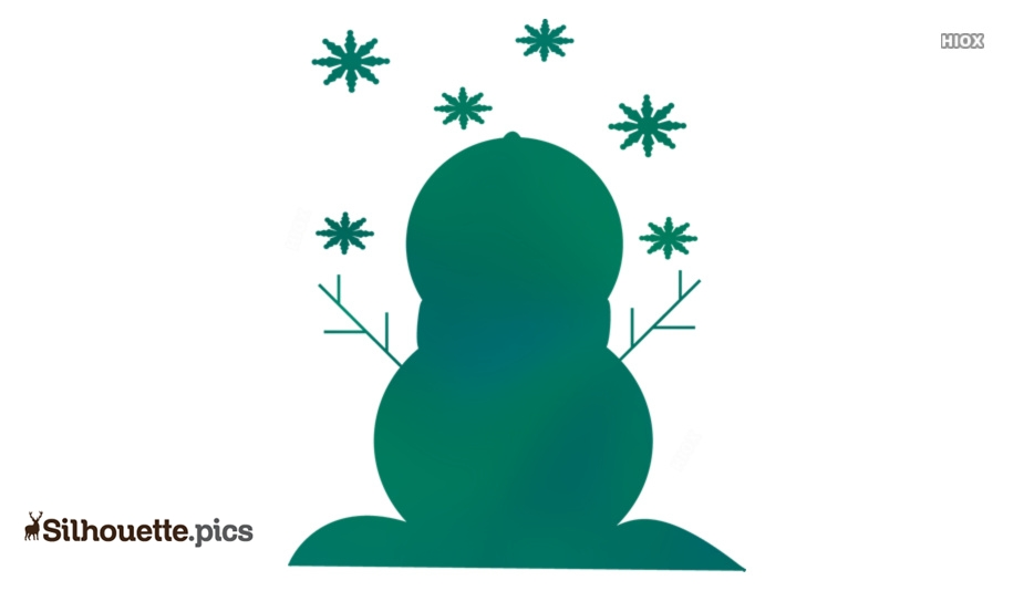 Snow Man Silhouette Drawing