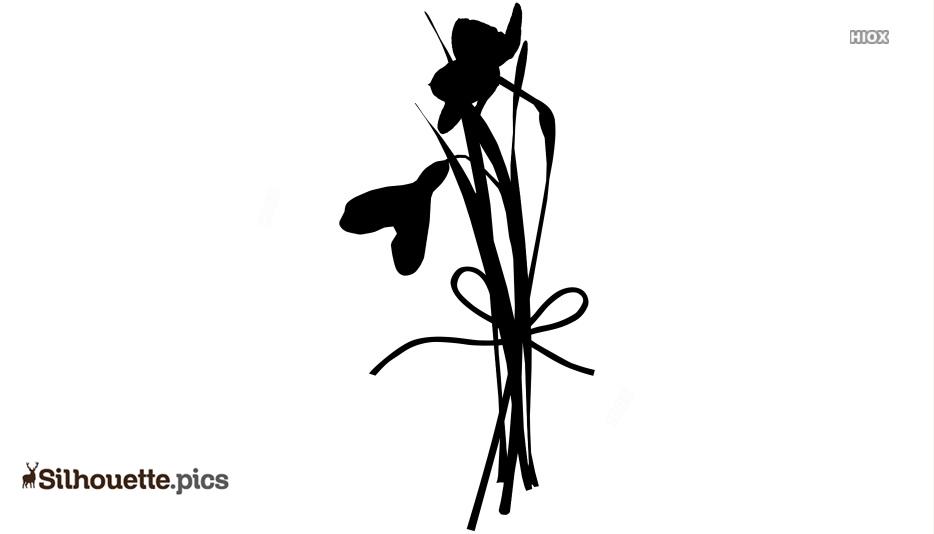 Snowdrop Flower Silhouette Free Vector Art
