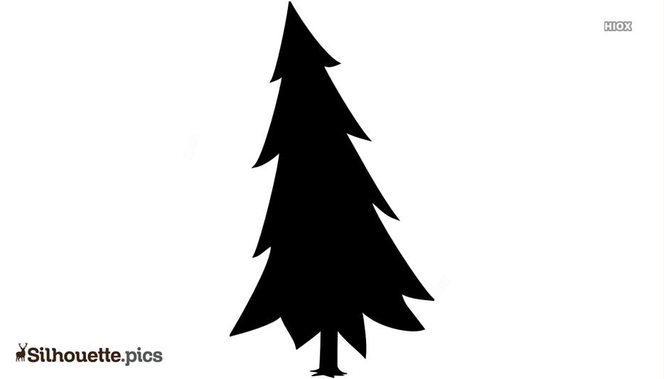 Snowy Pine Tree Silhouette Free Vector Art