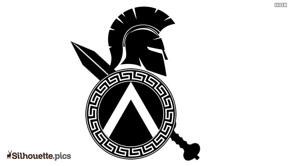 Spartan Shield Silhouette