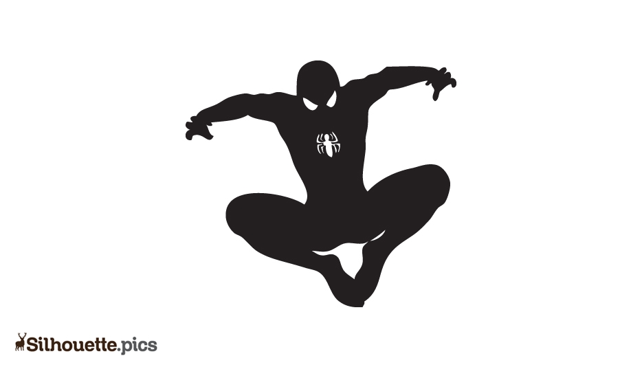 Spider Man Cartoon Silhouette Pic