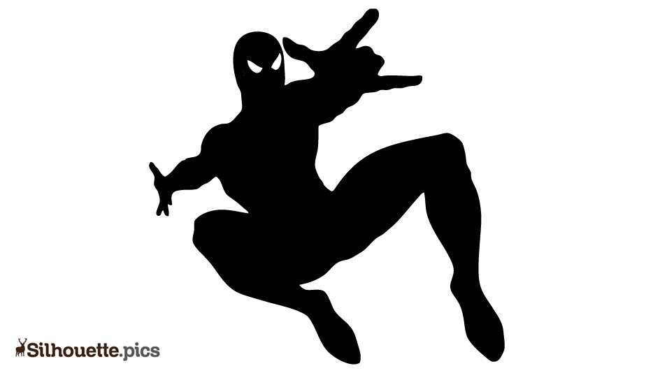Spider Man Drawing Silhouette Pic