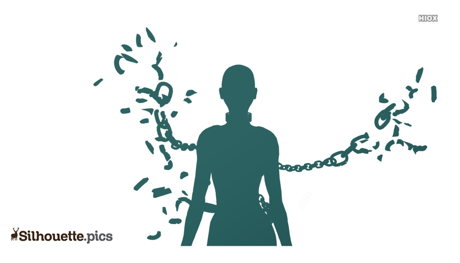 Spiritual chains broken Silhouette Vector, Clipart Images, Pictures