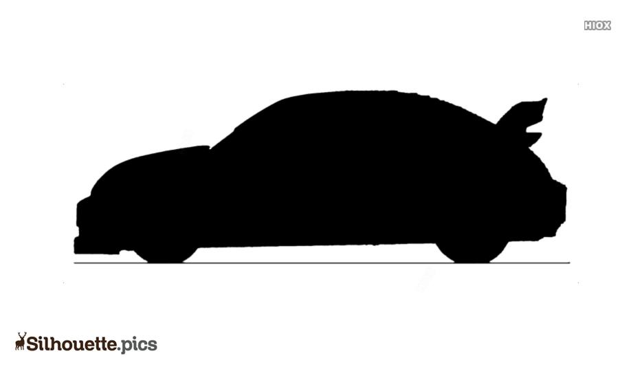 Sports Car Silhouette Art